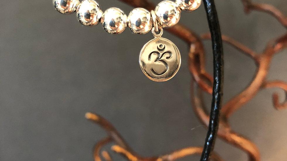 Petite silver chakra charm bracelets