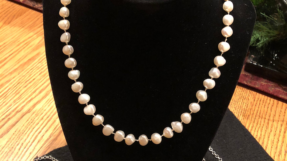 Hand strung freshwater pearls