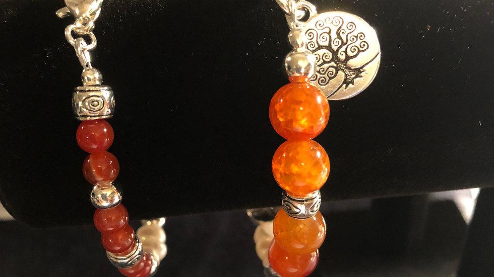 Carnelian stone bracelets