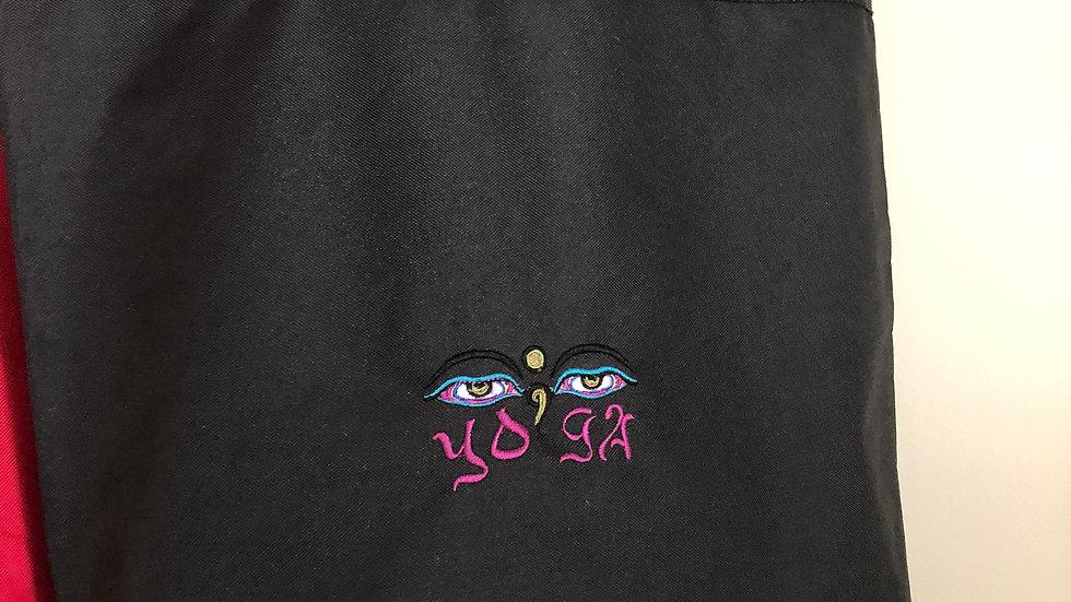 Yoga theme tote bag