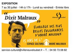 EXPOSITION DIXIT MALRAUX