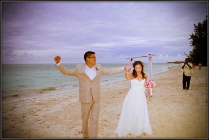 Destination wedding elopement
