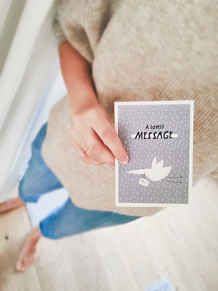 LOVELY MESSAGE - Postkarte