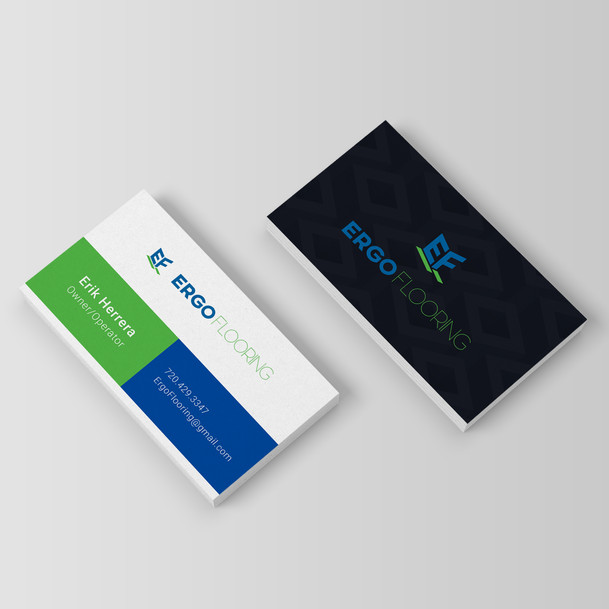 Ergo Flooring Business Cards