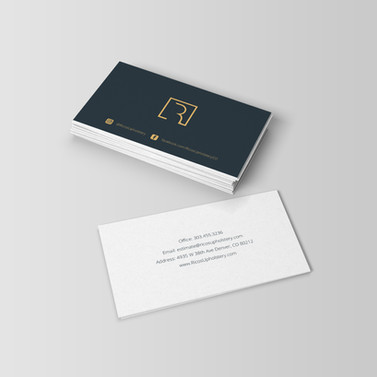 Ricos Upholstery Business Cards