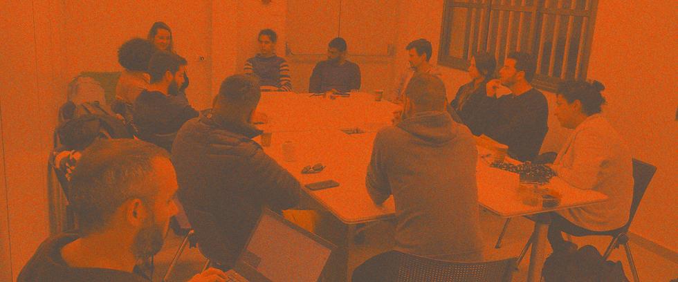 people meeting during  workshop
