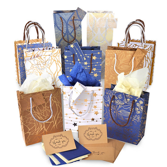 Christmas Gift Bags Bulk - Set of 14