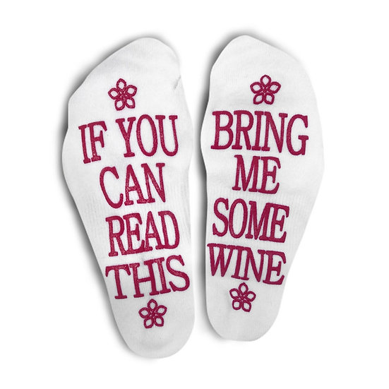 Fun Cozy Wine Socks for everyone