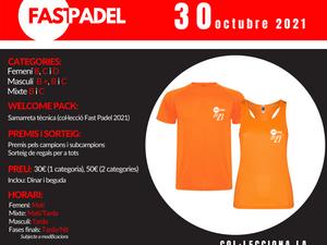 TORNEO FAST PADEL - 30 de Octubre de 2021 - Maresme Padel Club