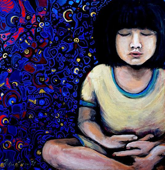 Meditierendes Kind