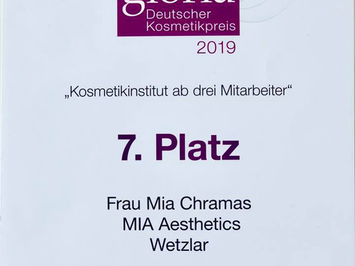 Gloria | Deutscher Kosmetikpreis 2019