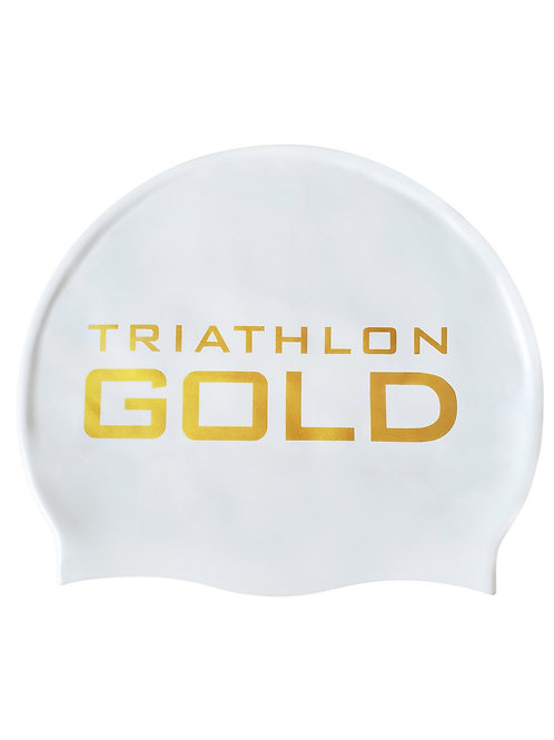 Triathlon Gold Team Swim Cap (Black)