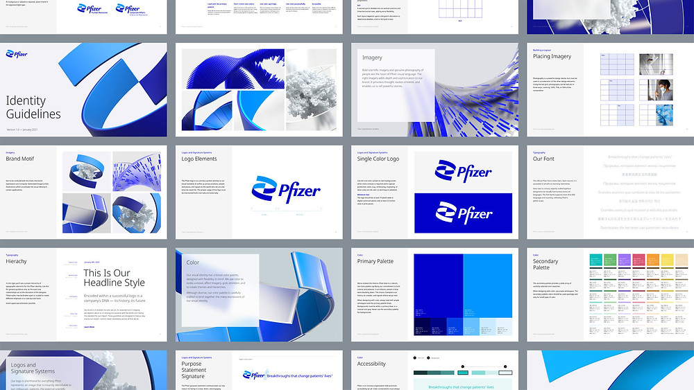 Pfizer visual identiy