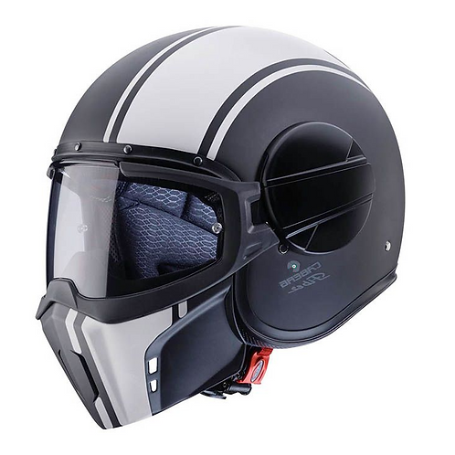Caberg Ghost Openface Helmets Legend Matt Black/White