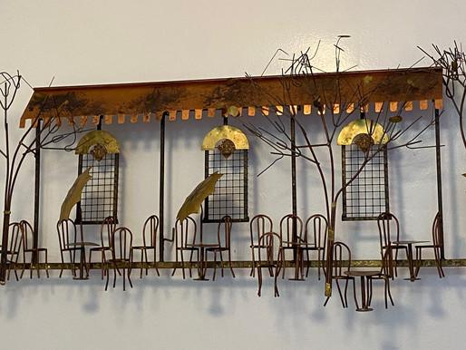 Vintage Parisienne Café......Thrifted Metal Sculpture