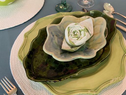 Green, Green Table Setting