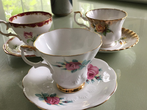 Tea Things from the Thrift Shop