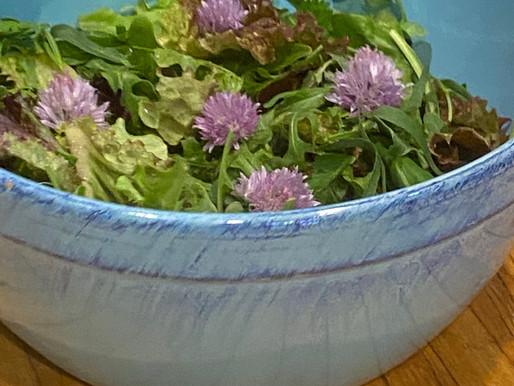 Herbal Salad with Herbal Dressing