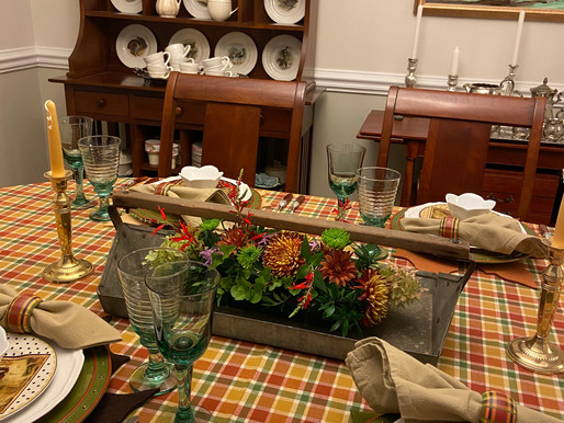 Fall Table in the Dining Room