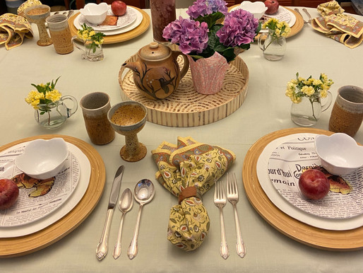 Spring Table Setting with a French Twist