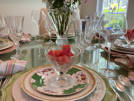 Wedgewood and Biltmore Table Setting