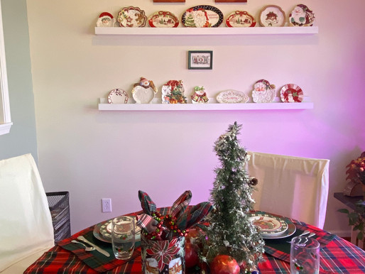 Plaid and Plaid Thrifted Christmas Tablescape