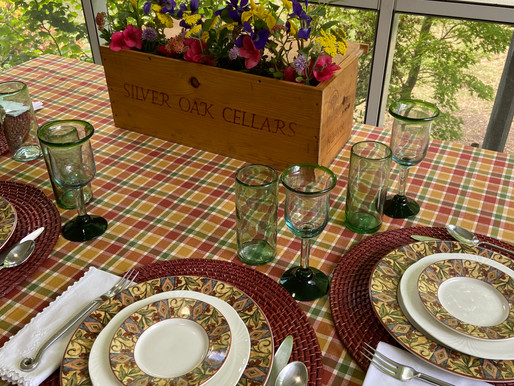 Table Setting on the Screened Porch