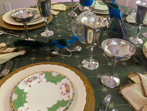 Exotic Table Setting with Thrifted Finds