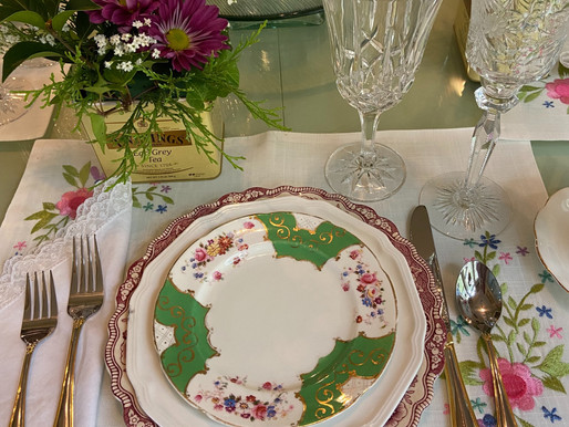 Tea and Dessert Table Setting