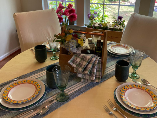 """Casual """"It's Almost Summer"""" Table Setting"""