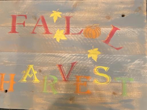 DIY Fall Harvest Sign Using Wood Scraps