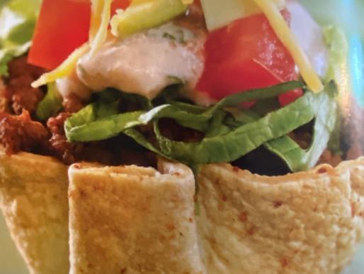 Mini Taco Salad Appetizers