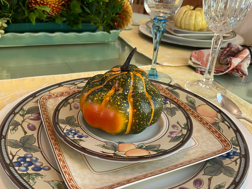 Fall Table Setting for Four