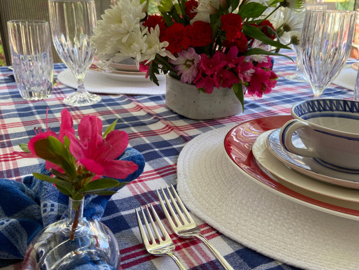 Table Setting from Thrift Store Finds