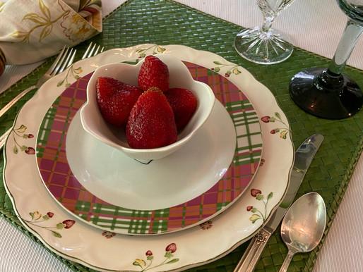 Berries and Checks Table Setting