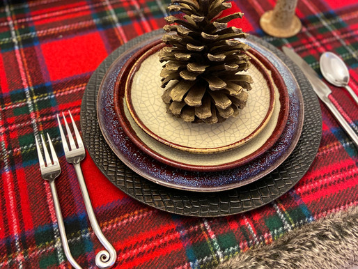 Woodsy Christmas Thrifted Tablescape