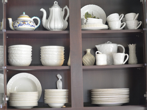 White Dishes Add to Your Thrift Store List