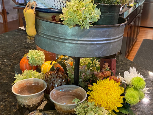 Farm Style Tiered Tray Vignette