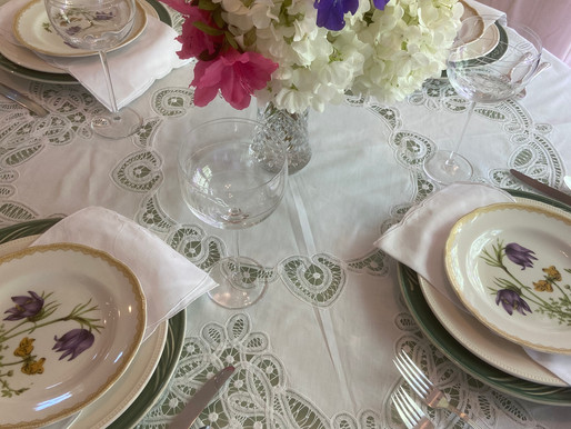 Battenburg Lace Tablescape