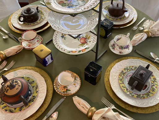 Create a Tea Tablescape from the Tablecloth Up
