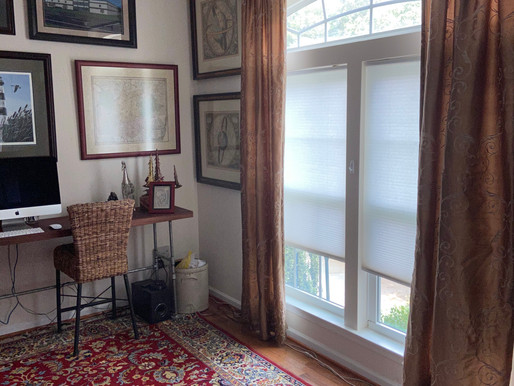 Thrift Store Silk Drapes Make a Difference