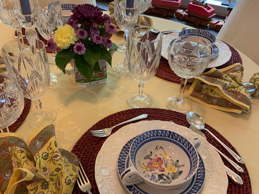 Mother's Day Table Setting (All Thrifted)