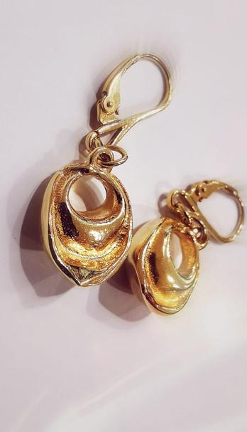 Orecchini pendenti placcati oro di TortellinoArt
