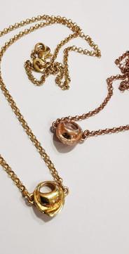 Bracciali placcati oro & rosa di TortellinoArt
