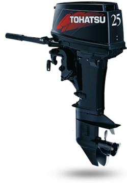 M 25 S- 2-х тактный подвесной лодочный мотор Tohatsu