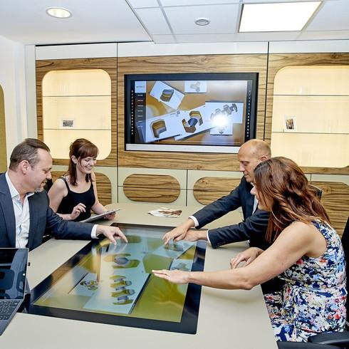Interactive boardroom table