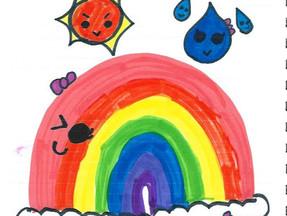 虹を見て、今日も1日元気に過ごそう