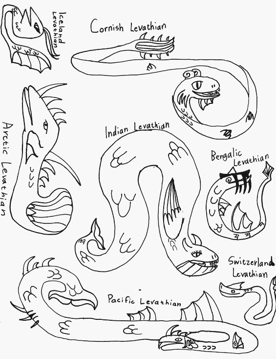 The variations of leviathans I created.