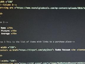 Working on the HTML Christmas List