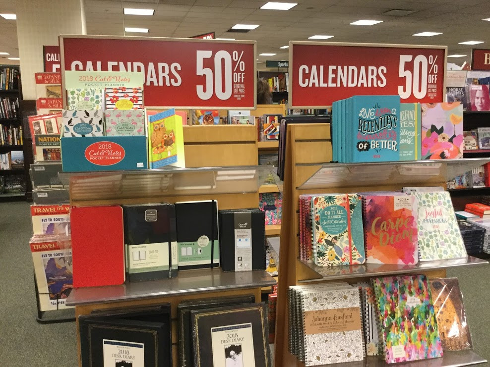 50% off on all calendars at Barnes & Noble